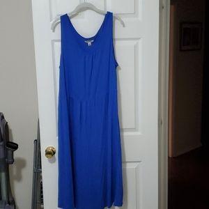 Old Navy 3X Blue Sleeveless Dress